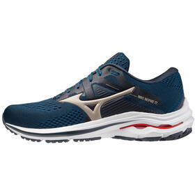 Mizuno Wave Inspire 17 Scarpe Uomo, india ink/platinum gold/ignition red